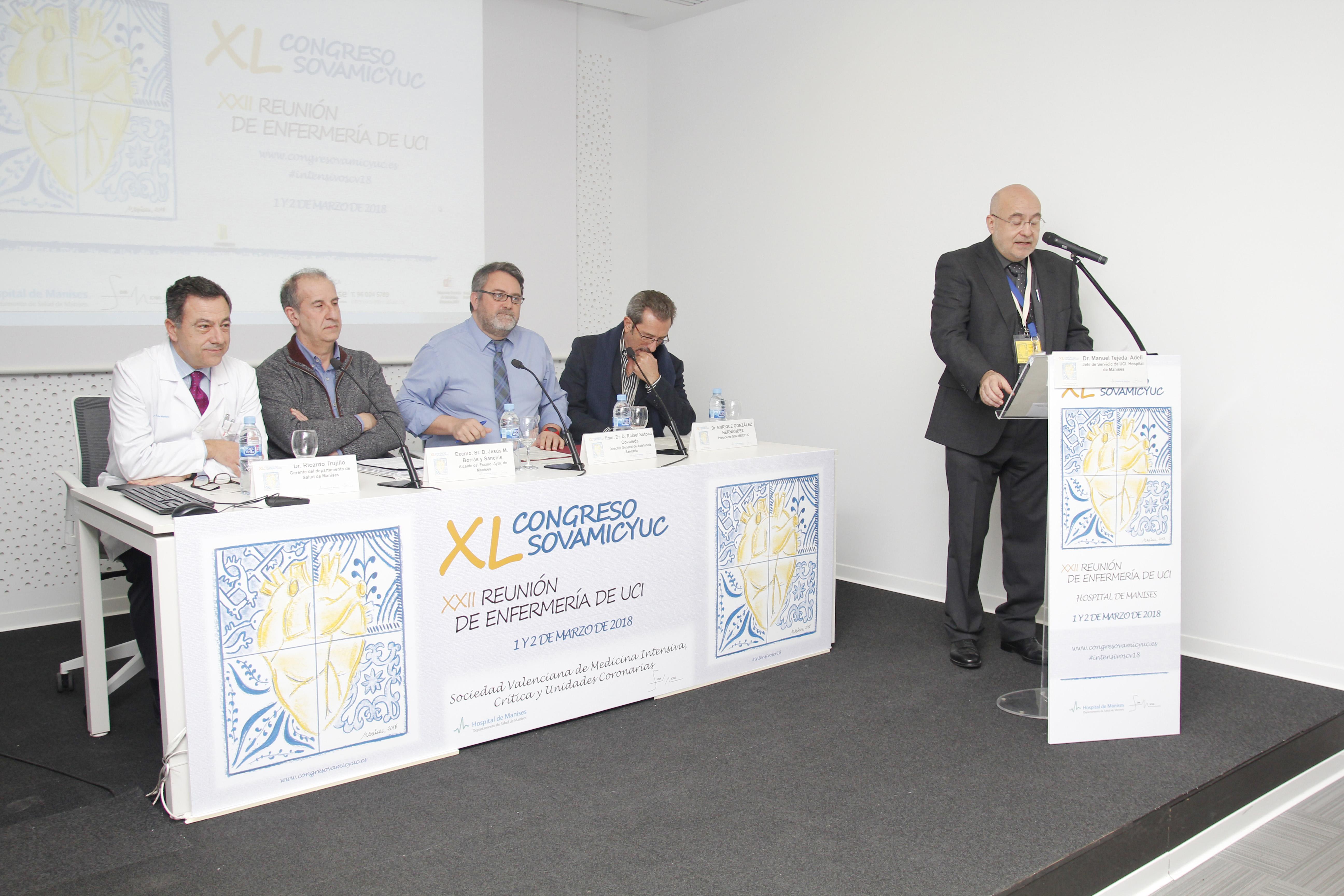 Más de 80 expertos se han dado cita en el congreso organizado por el centro hospitalario, el Ayuntamiento de Manises y la Asociación Valenciana de Medicina Intensiva SOVAMICYUC.