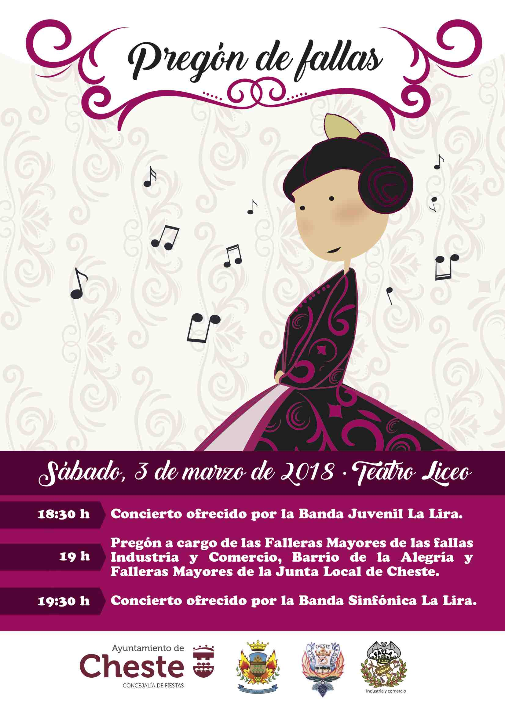Cartel anunciador del Pregón en Cheste.