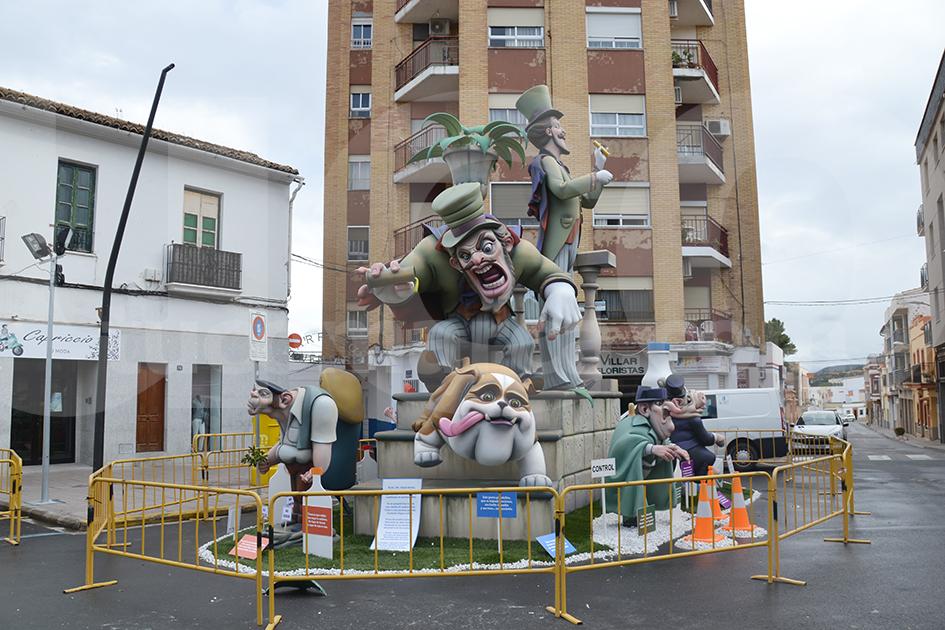 """El monumento de este año levantado por Las Ventas se titula """"Mala Leche""""."""