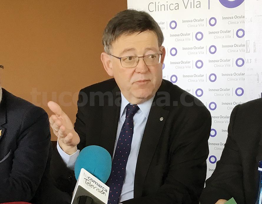 El President de la Generalitat durant la trobada mantingut amb l'Associació de la Premsa Comarcal Valenciana.