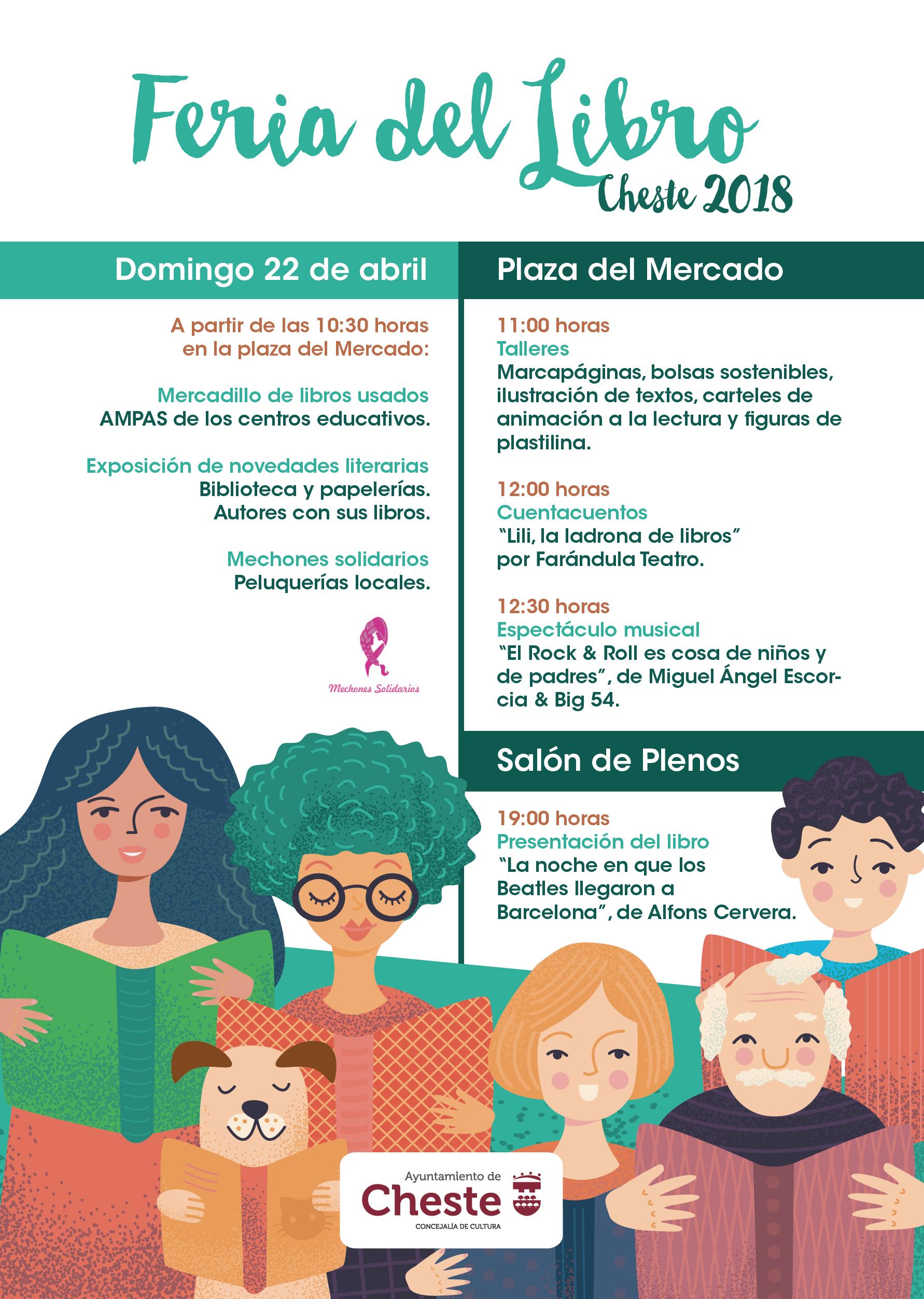 El próximo domingo, 22 de abril, se celebrará en Cheste una nueva edición de la Feria del Libro.