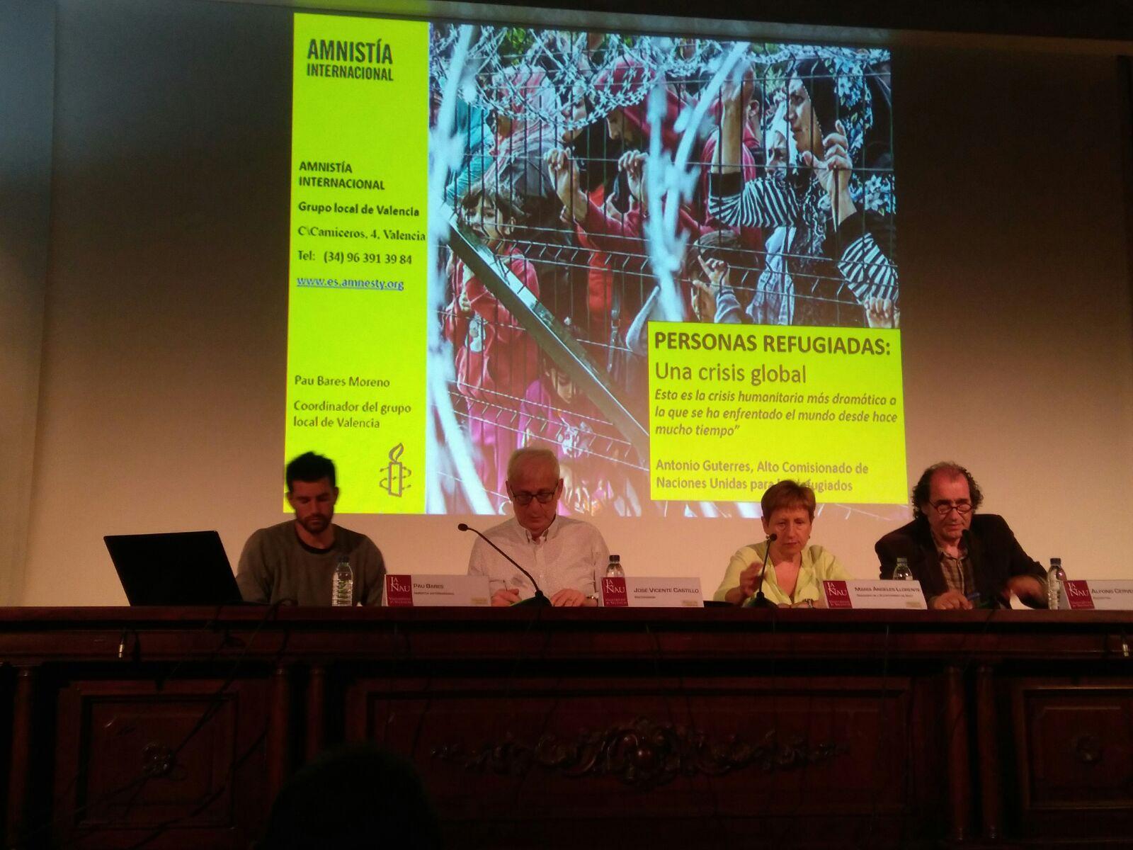 El acto, organizado por la Universitat de València junto con el Ayuntamiento de Cheste, contó con la participación de la concejala de Cultura, Mª Ángeles Llorente.