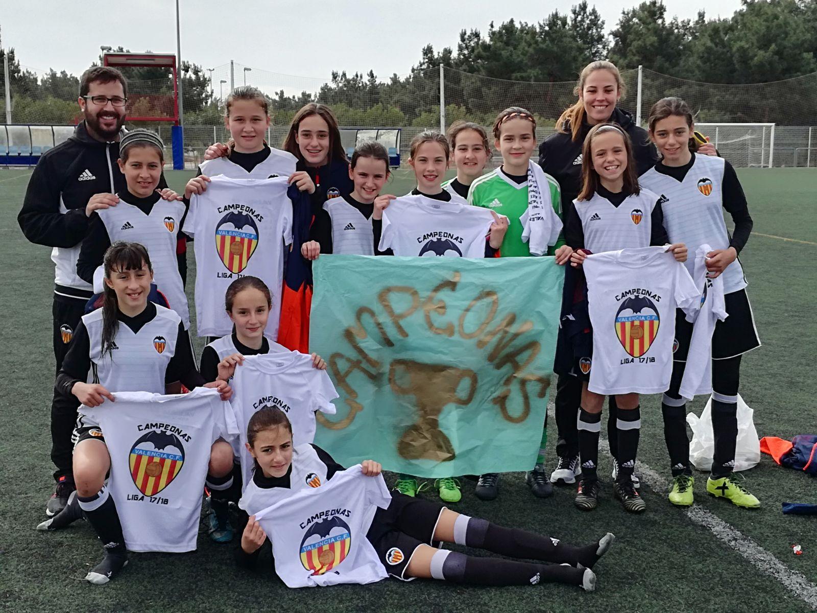 El equipo del Valencia CF campeón de esta temporada 2017-2018.