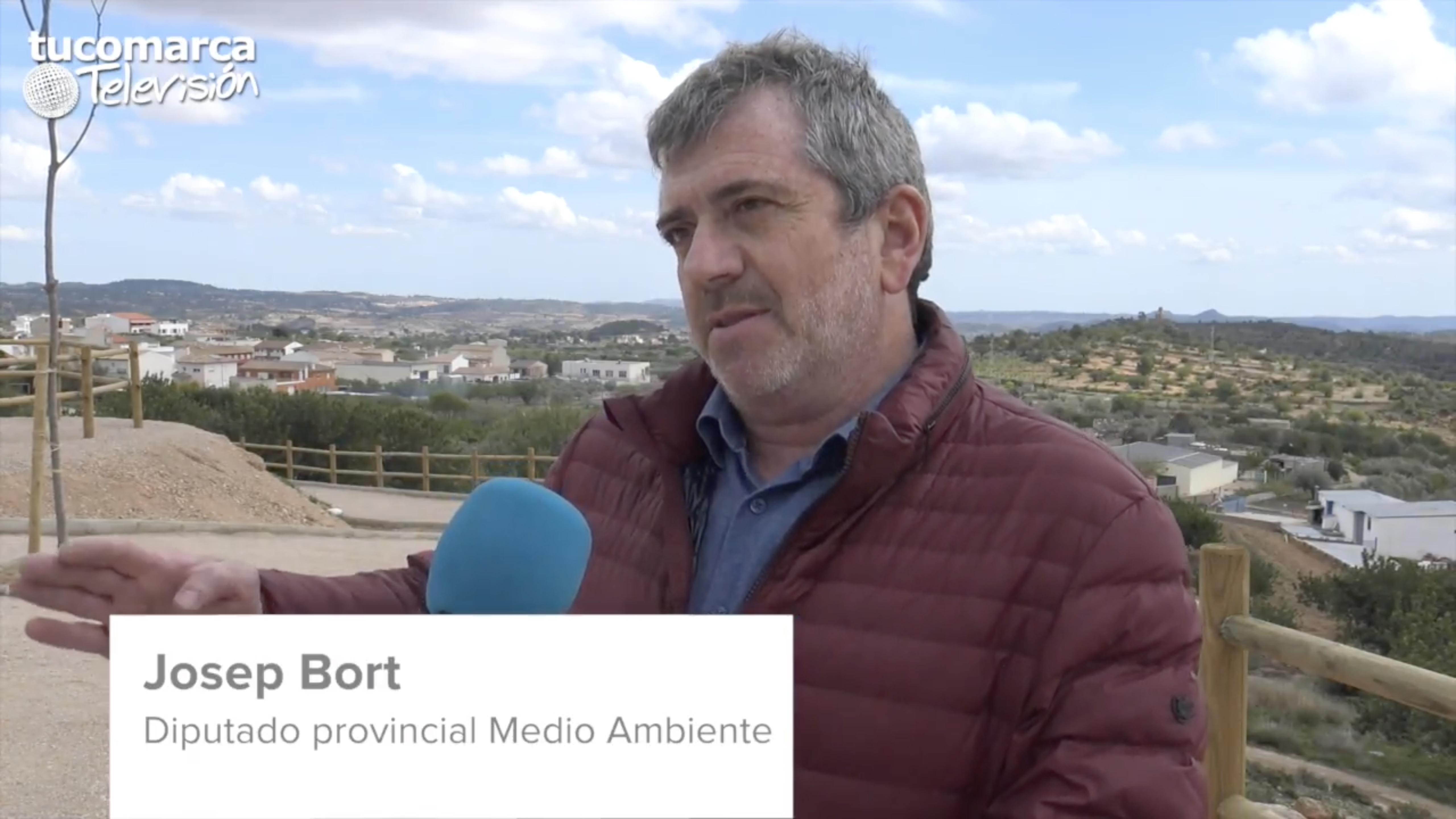 El diputado provincial de Medio Ambiente, Josep Bort, durante la entrevista realizada por tucomarca televisión.