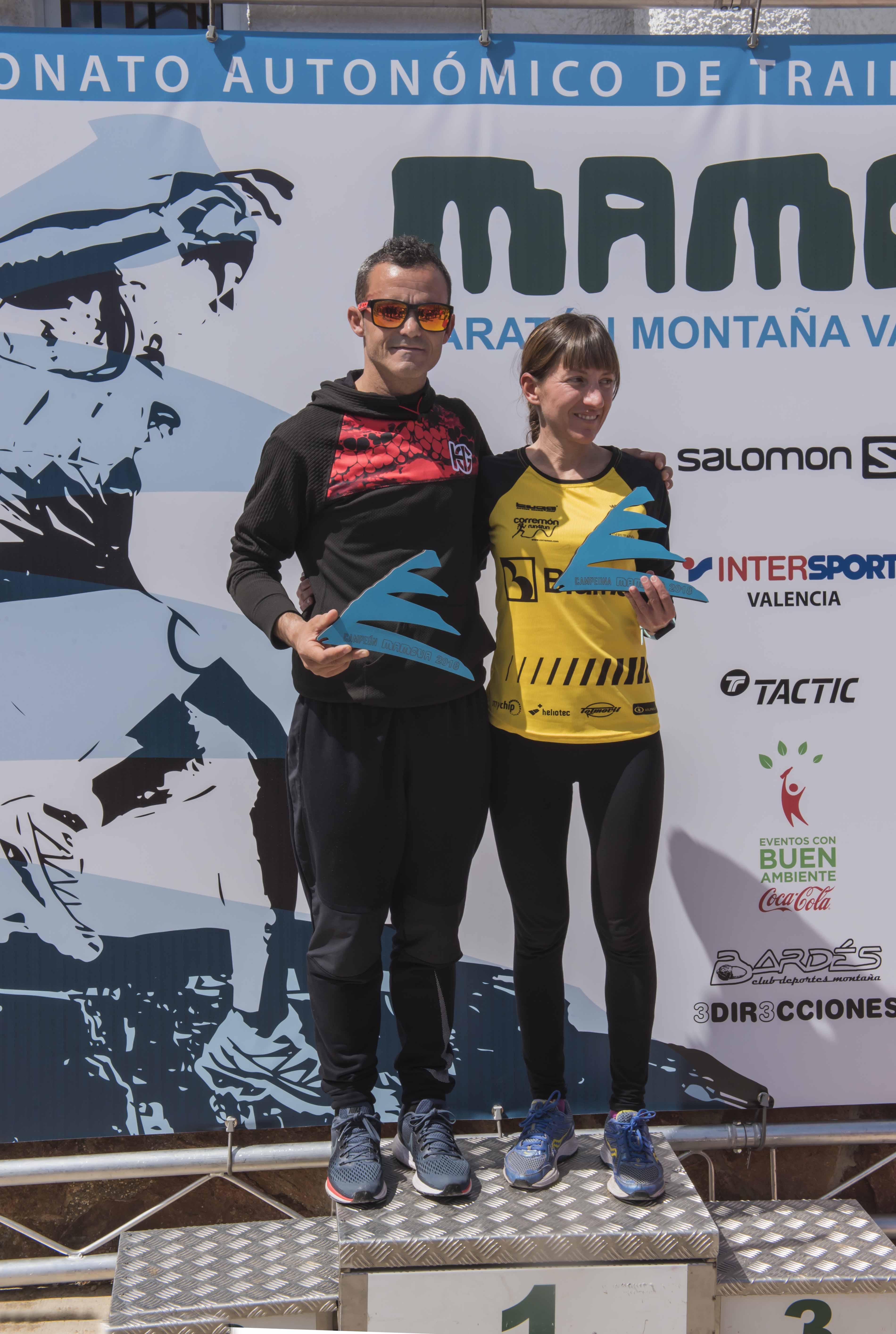 Sebastián Sánchez (CA Marathon Crevillent) y Diana Martorell (Mur i Castell-Tuga) han sido los ganadores de la octava edición de MAMOVA. Foto: Tripixelsport.