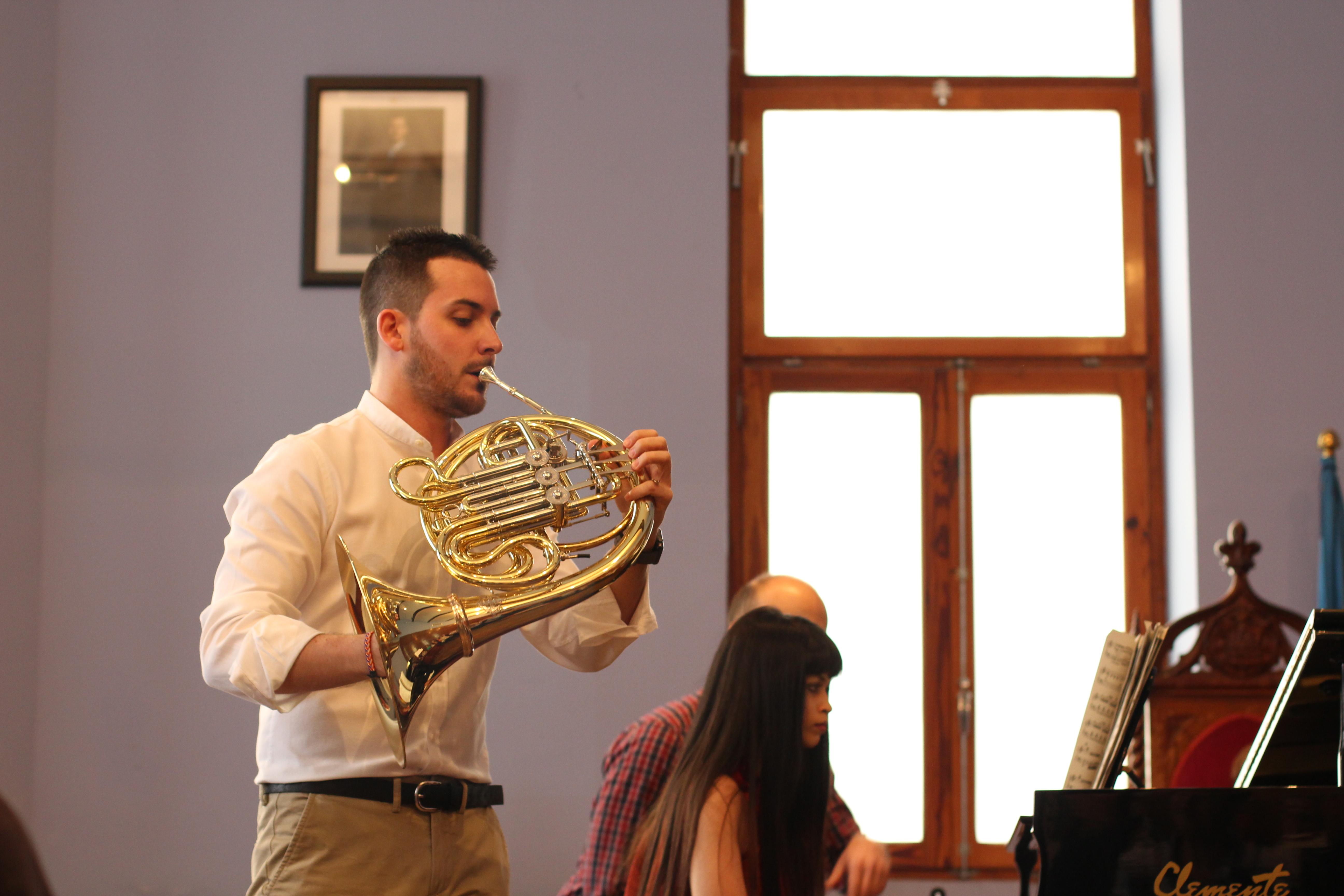 El chestano Pedro Jorge García es actual trompa solista de la Orquesta de la Comunidad de Madrid.