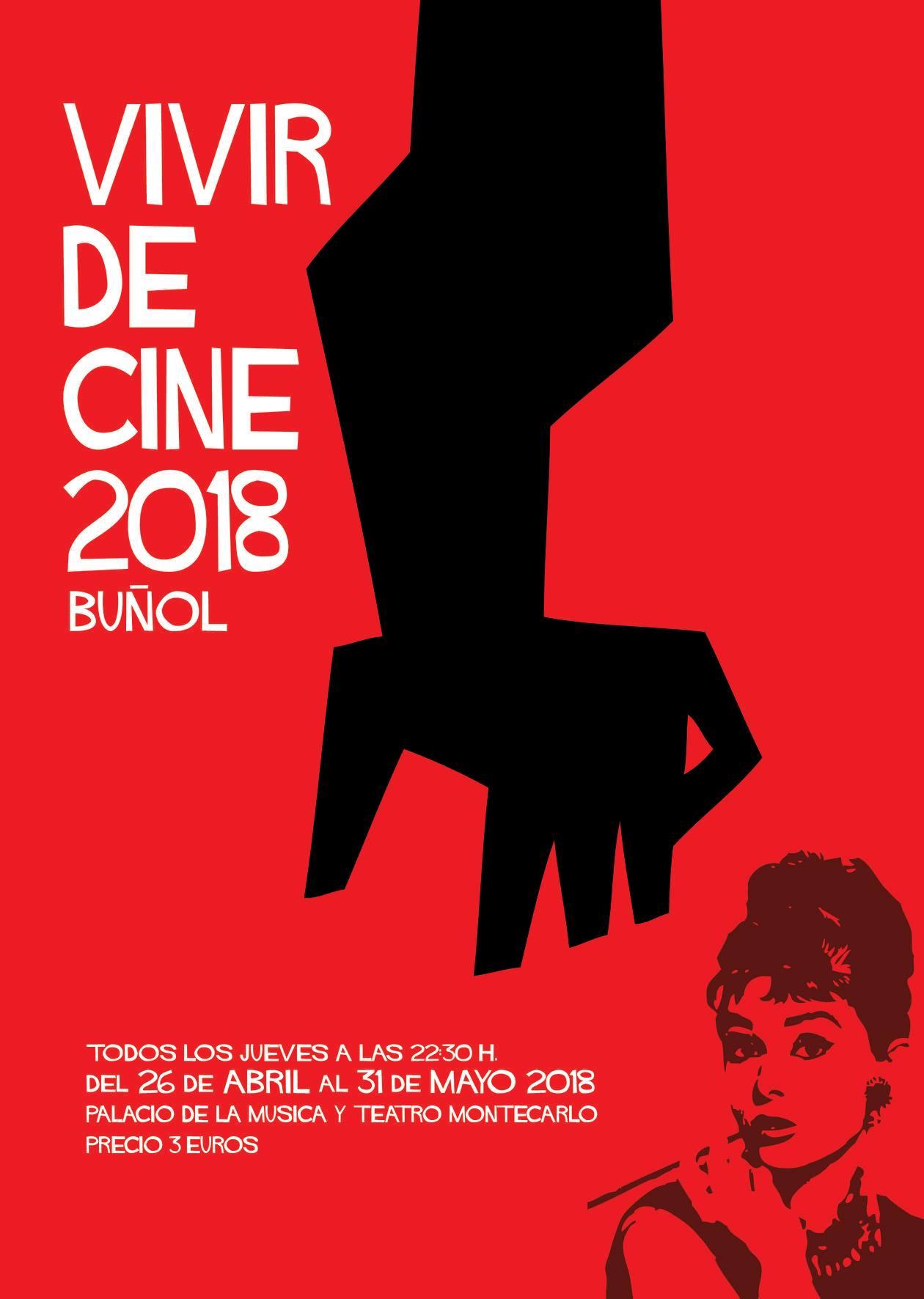 Cartel del Festival Vivir de Cine en Buñol 2018.