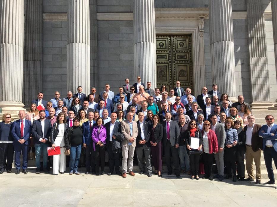 A la porta del Congrès dels Diputats.