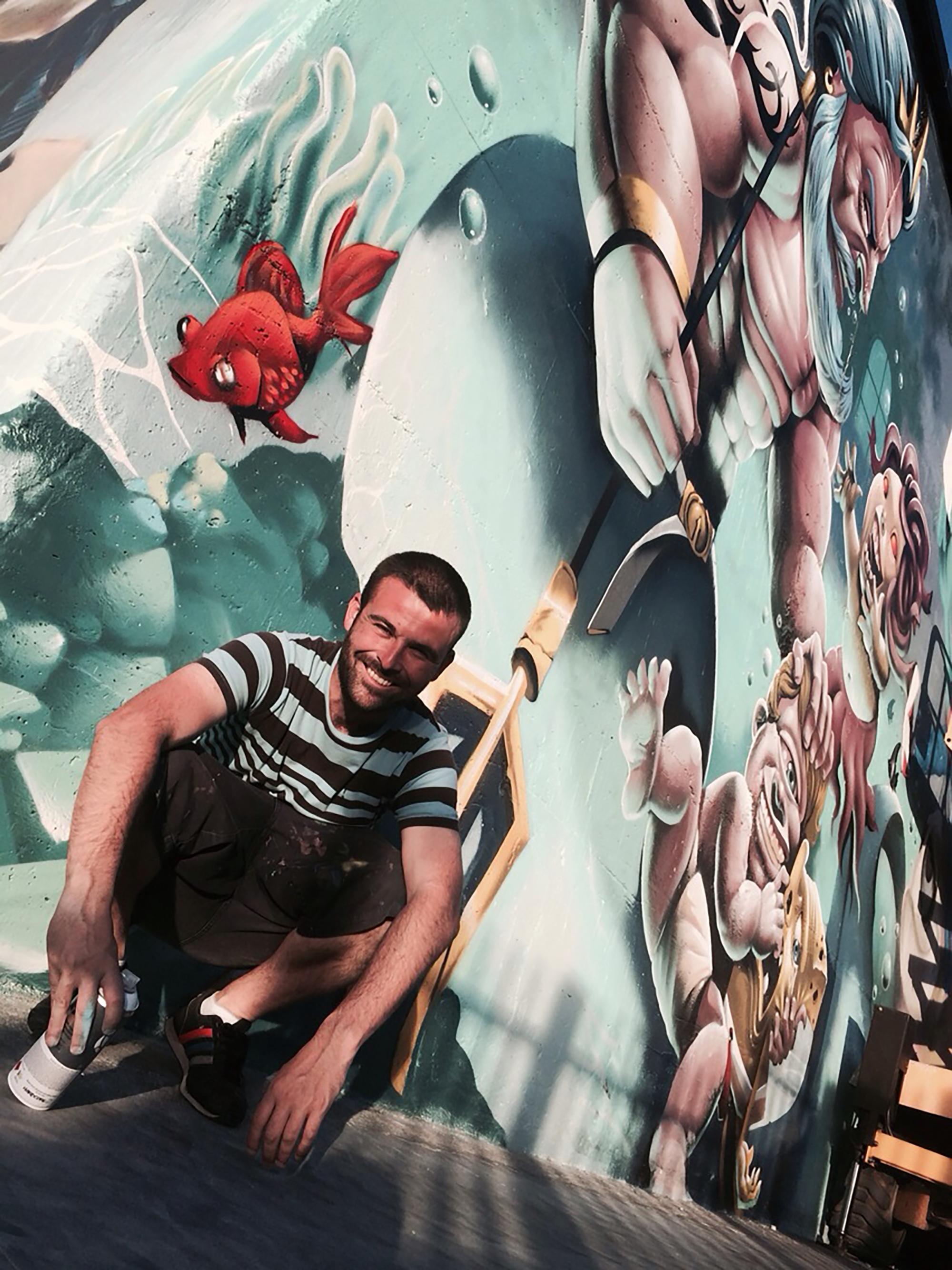 Festival d'art urbà que des de hui i fins diumenge tindrà lloc a Vilamarxant.