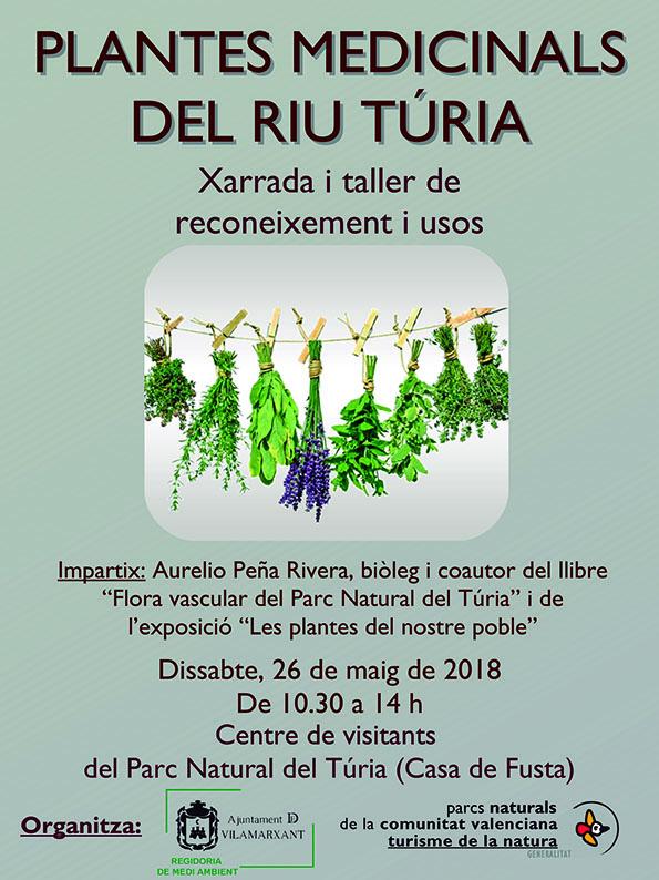 """Dissabte, 26 de maig, en la xarrada """"Les plantes medicinals del riu Túria"""" a la Casa de Fusta (10.30 h)."""