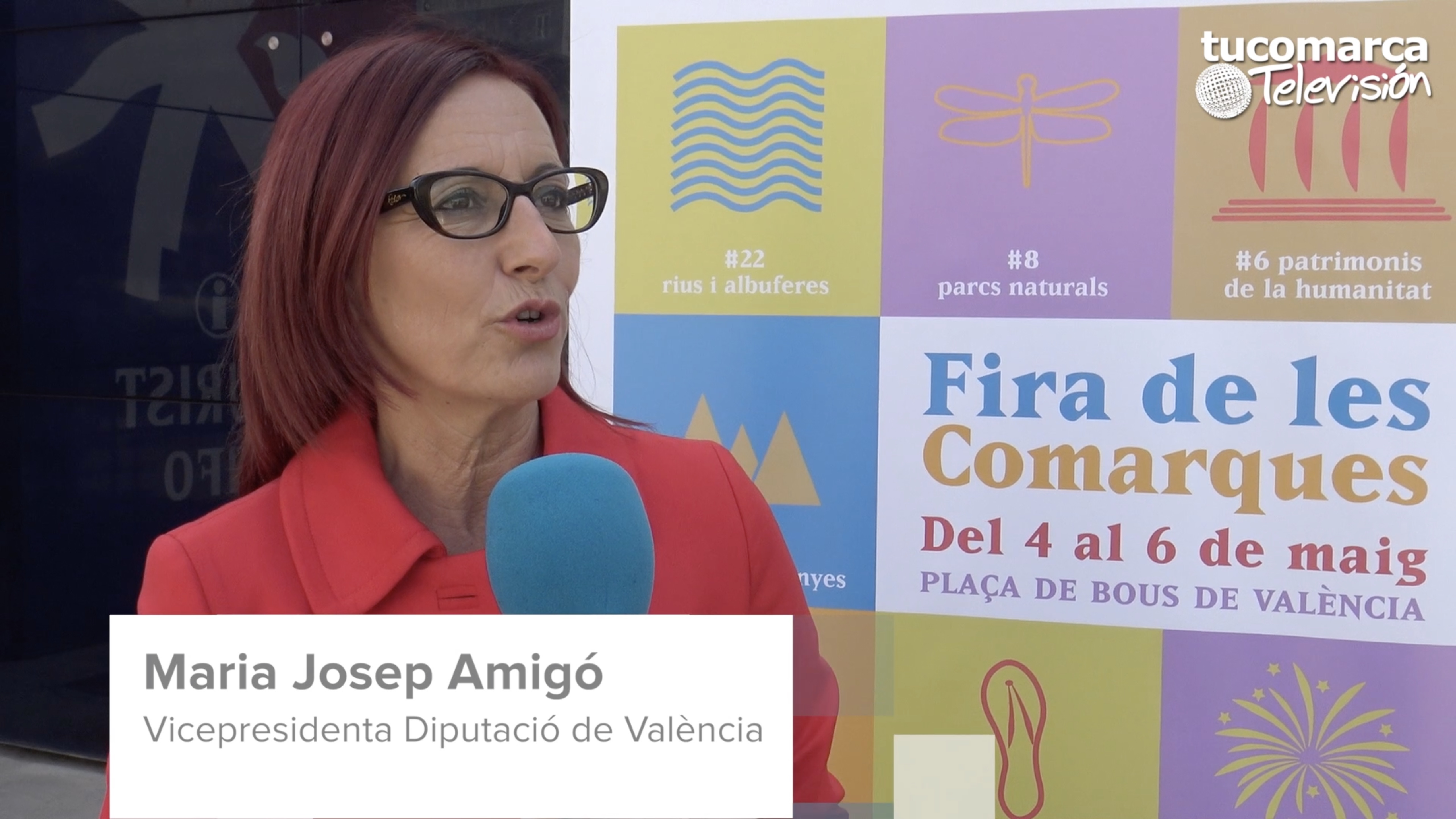 La vicepresidenta de la Diputació de València durante la entrevista realizada por tucomarca televisión.