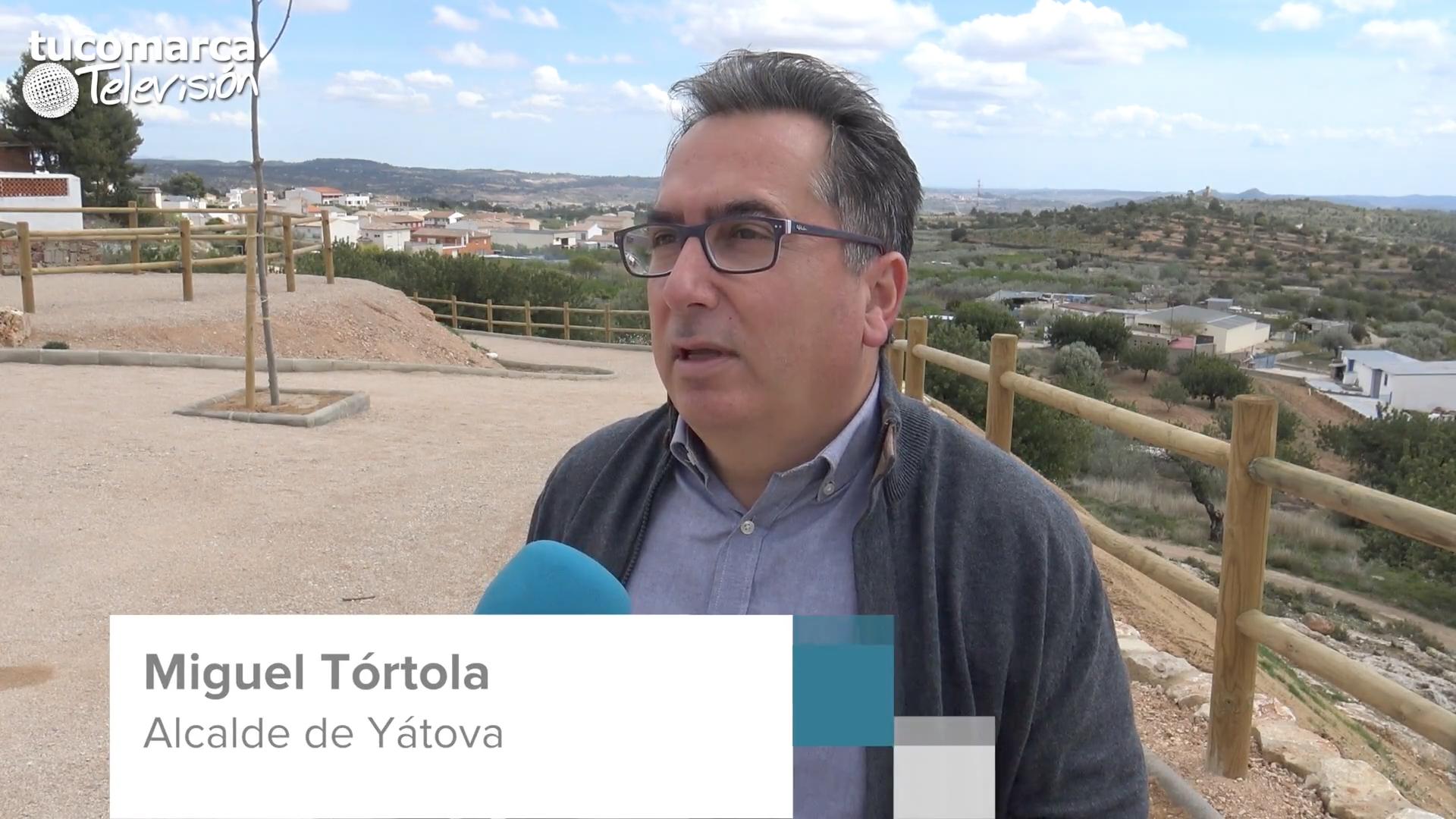 El alcalde de Yátova durante una entrevista para tucomarca televisión.