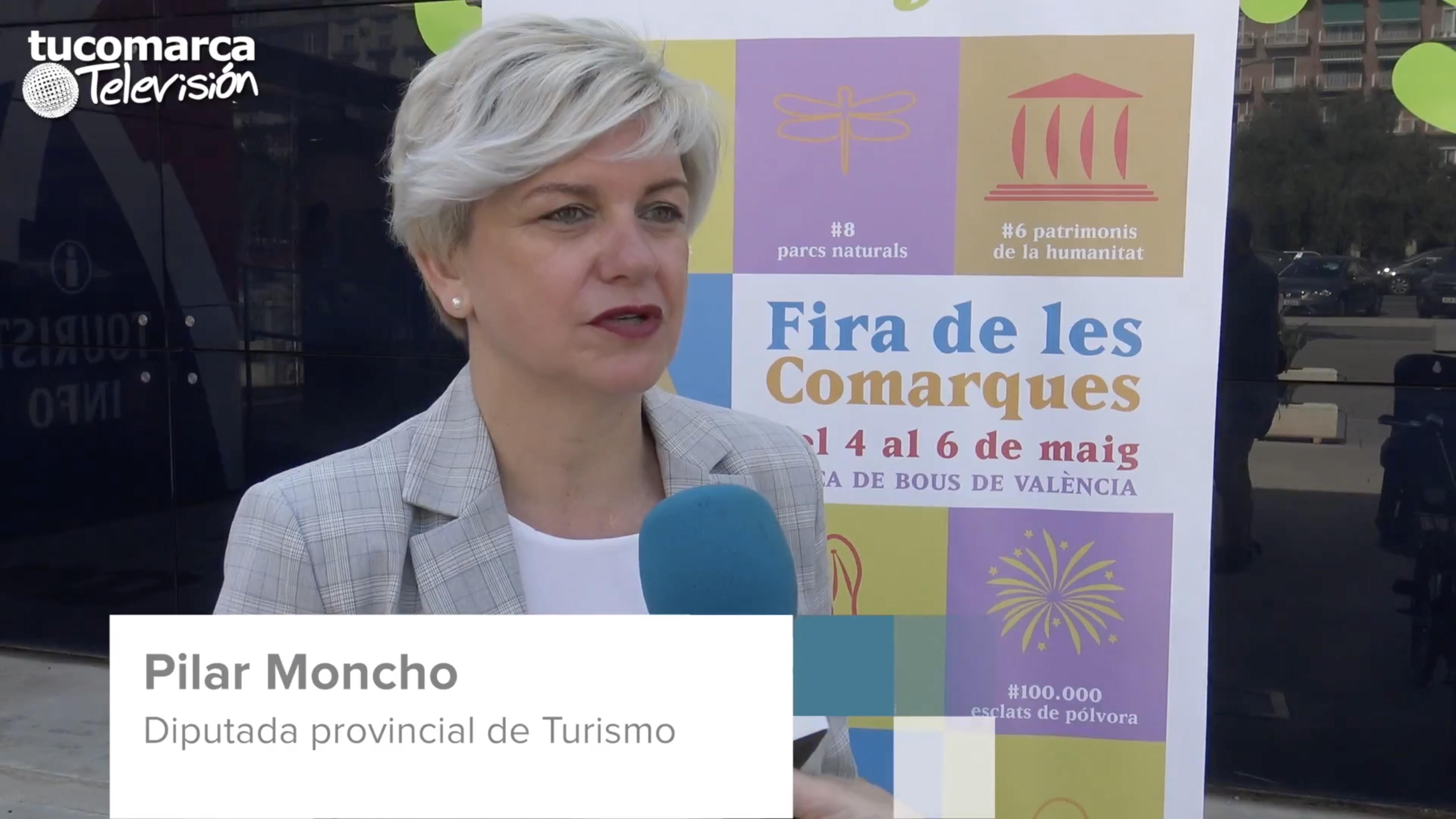 La diputada provincial de Turismo, Pilar Moncho, durante la entrevista realizada por tucomarca televisión.