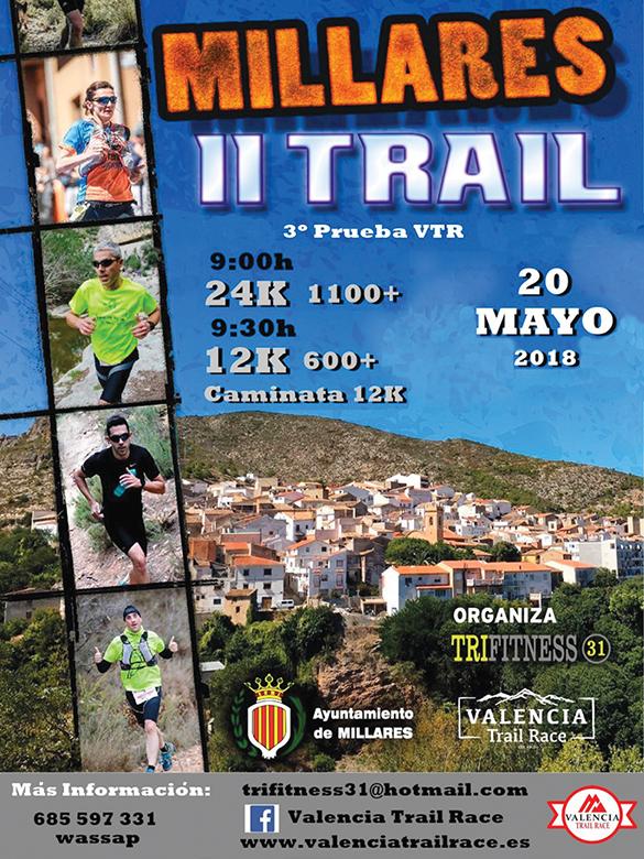 Cartel del segundo trail de Millares.