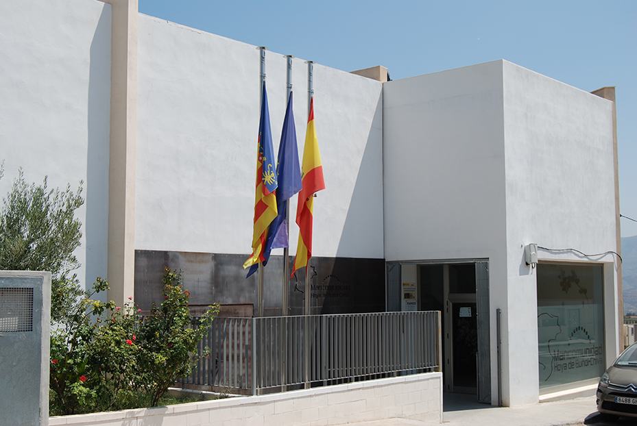 La sede de la mancomunidad de La Hoya está ubicada en Yátova.