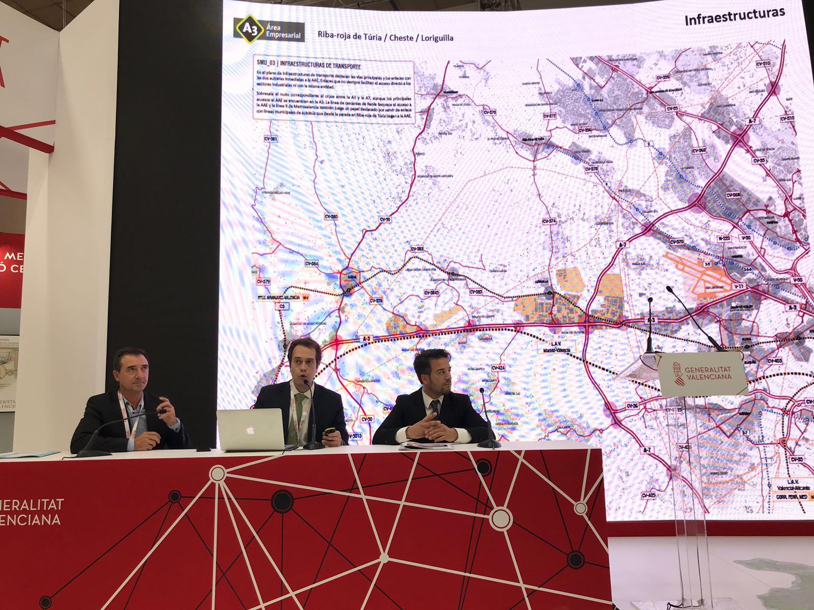 Un momento de la presentación de la oferta industrial en Barcelona.