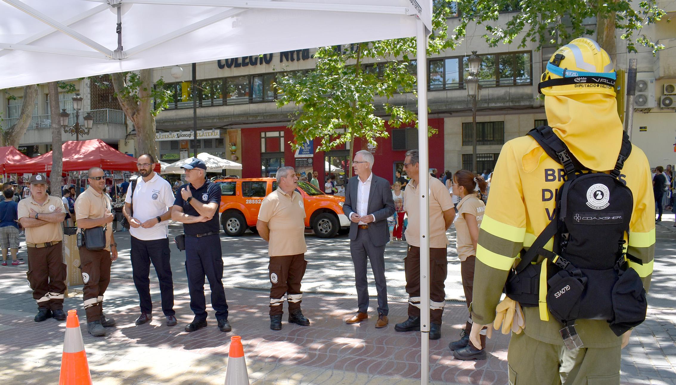 Les brigades de la Diputació de València han participat en la Jornada de presentació de novetats i efectius d'incendis forestals per a la campanya d'estiu 2018.