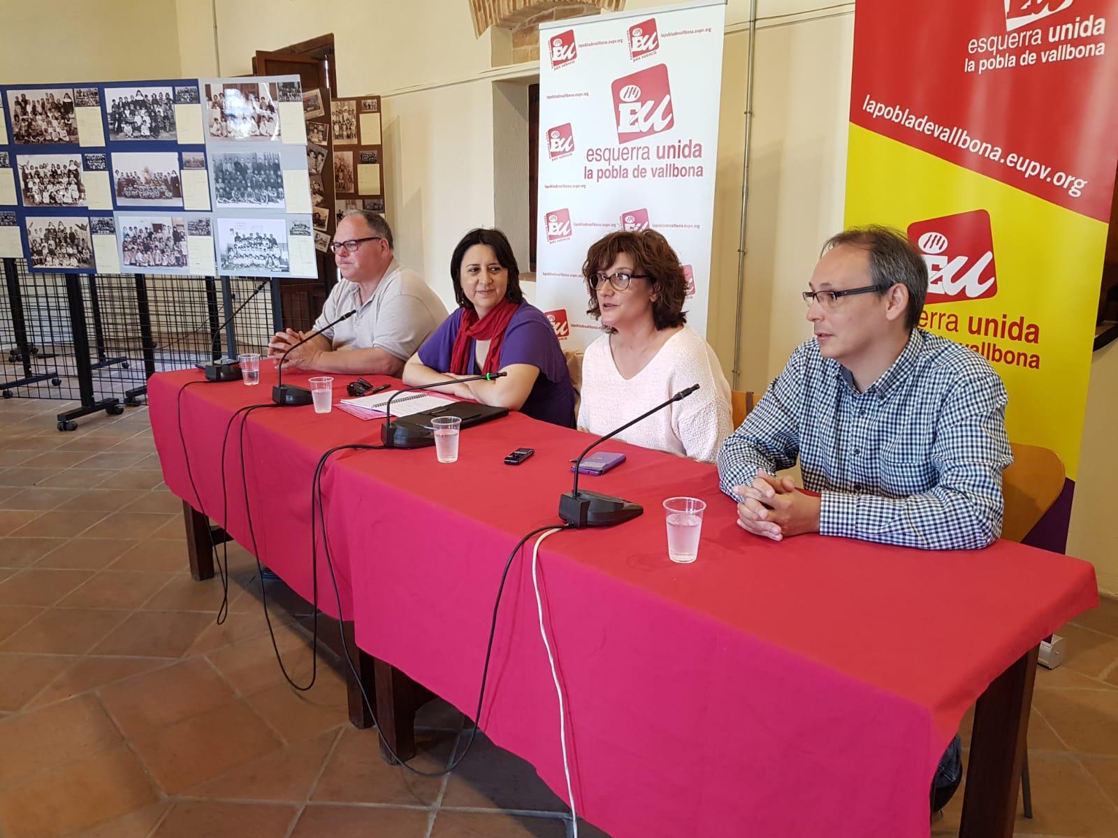 Pérez Garijo, que ha tornat a incidir en què el principal objectiu de la formació d'esquerres es tornar a Les Corts Valencianes en 2019.