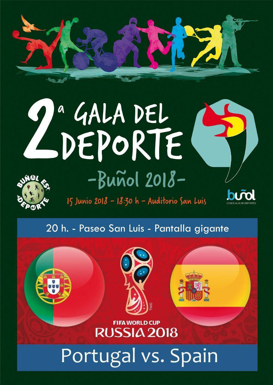 Cartel de la segunda gala del deporte de Buñol.