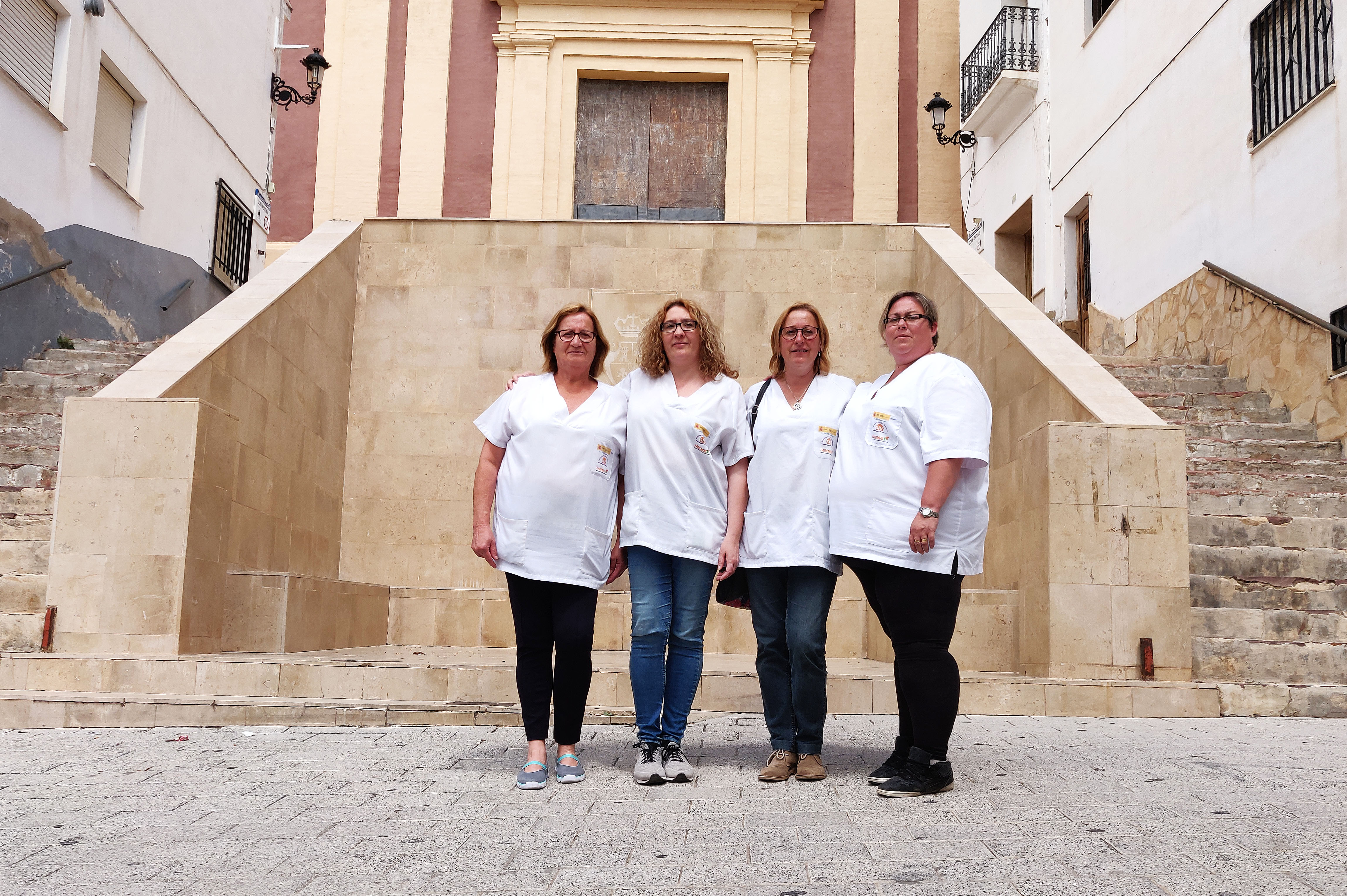 Maribel, Sandra, Carmen y María José.