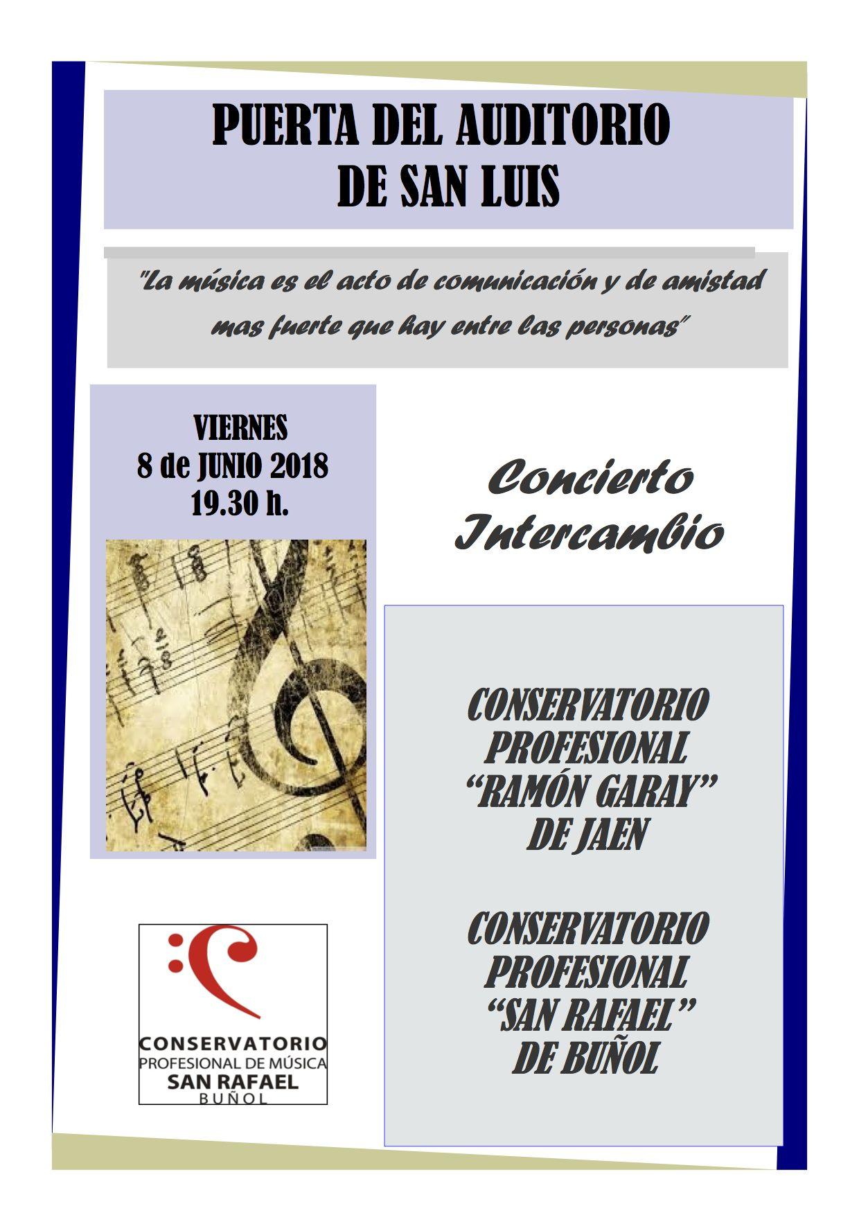 Cartel del intercambio musical.