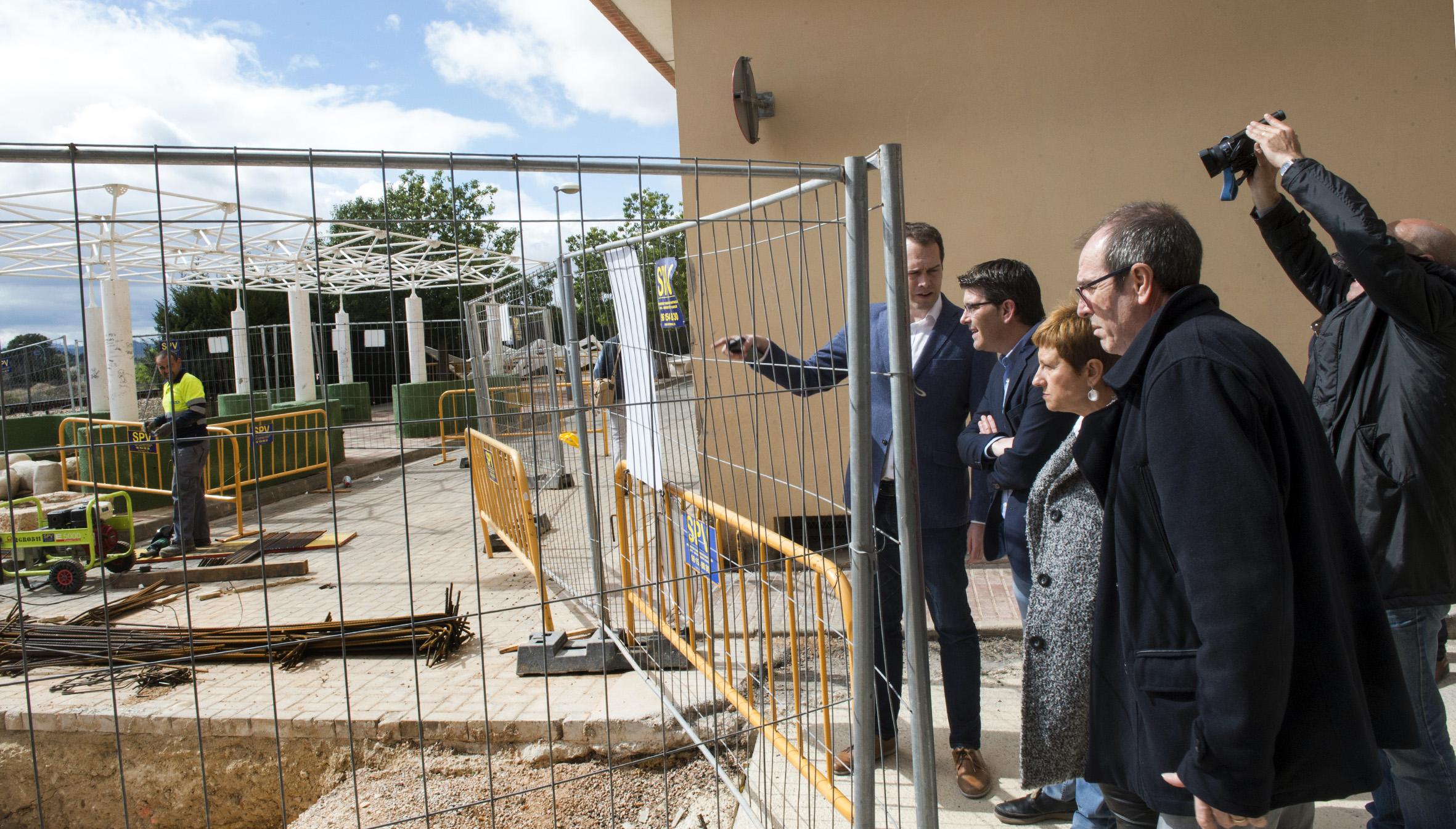 Jorge Rodríguez durante su reciente visita a Cheste.