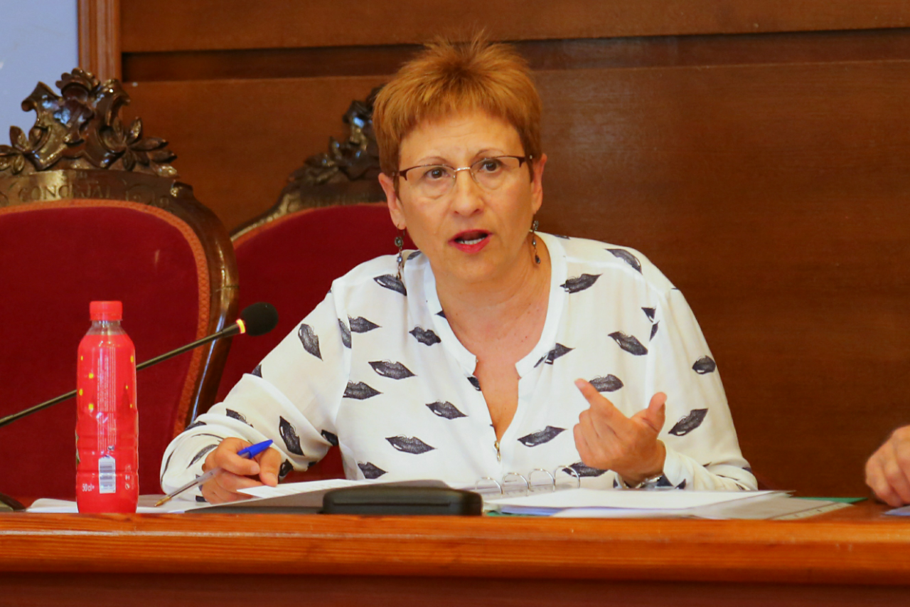 La concejala Mª Ángeles Llorente.