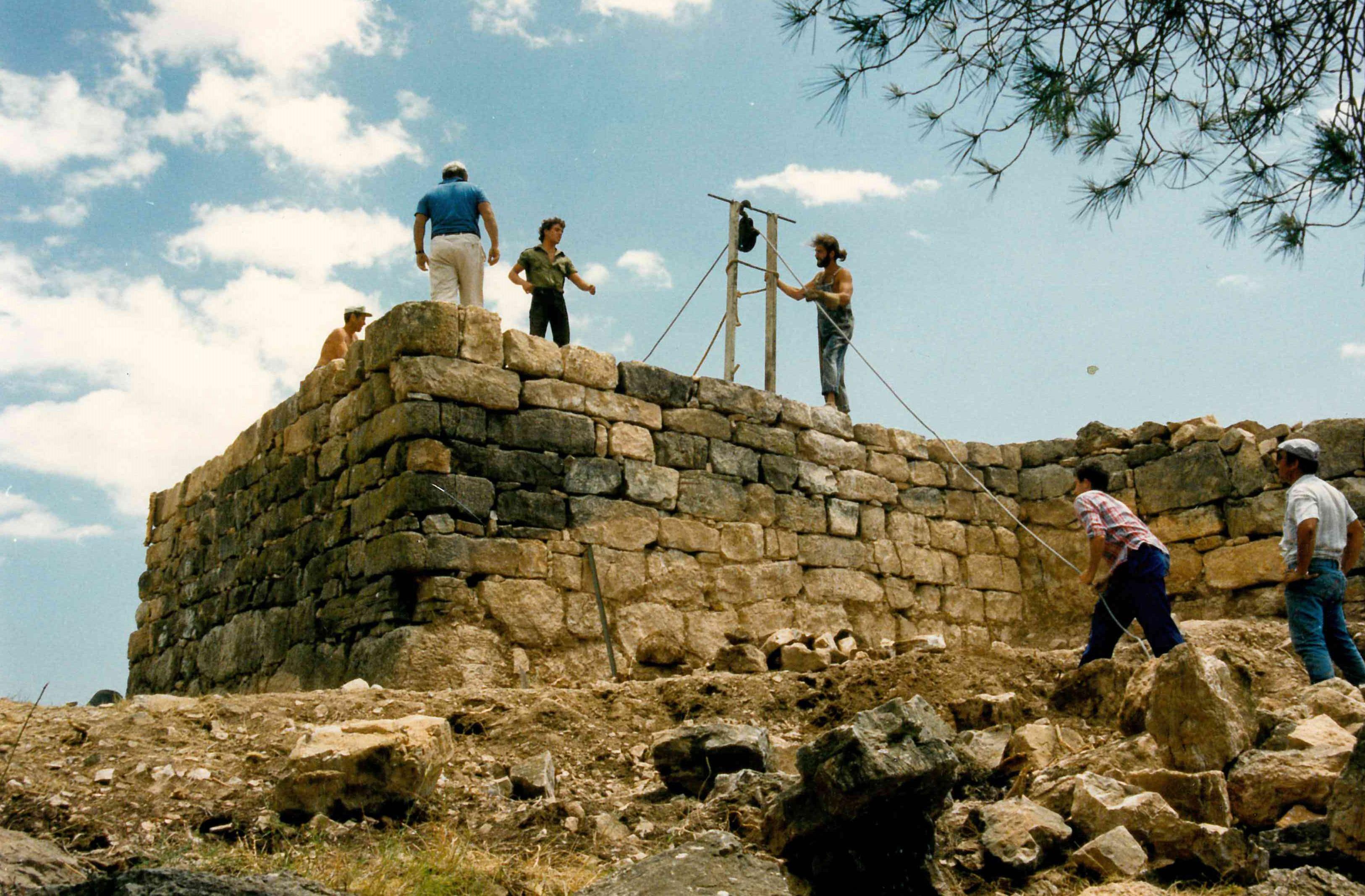 Una imagen de las excavaciones en 1988.