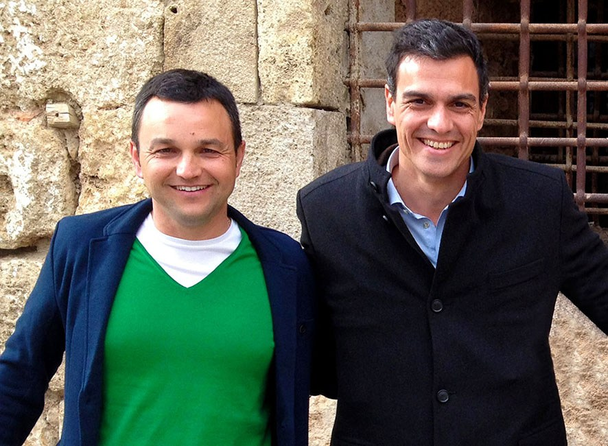 Toni Quintana con Pedro Sánchez.