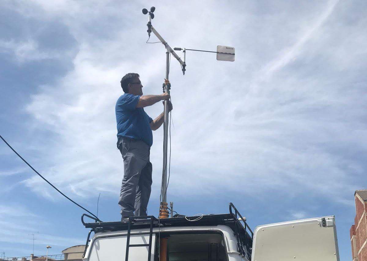 La estación de medición de la contaminación del aire llega a Cheste.