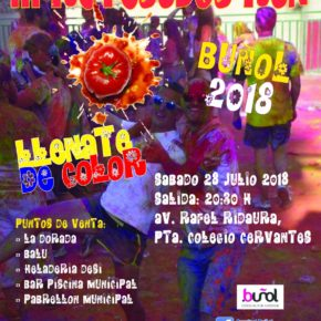 Una carrera llena de color y diversión que tendrá lugar el próximo sábado 28 de julio a las 20.30h en la Avenida Rafael Ridaura, en la puerta del Colegio Cervantes