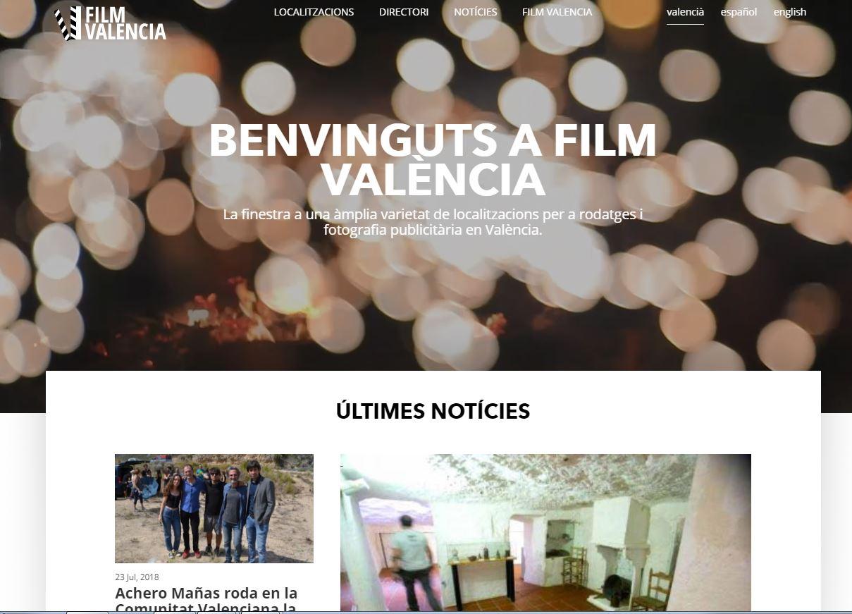 Albert Girona, Abel Guarinos i Pilar Moncho assisteixen a la presentació de la nova eina de gestió per a facilitar rodatges en el territori valencià.