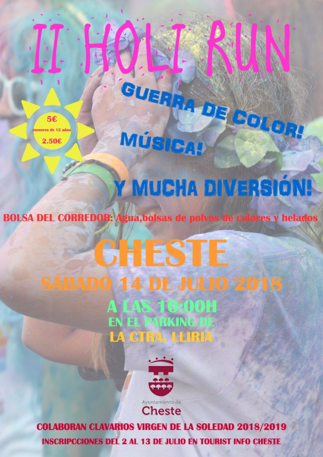 Por segunda vez Cheste cuenta en su programa de Fiestas de Julio con una 'Holi Run'