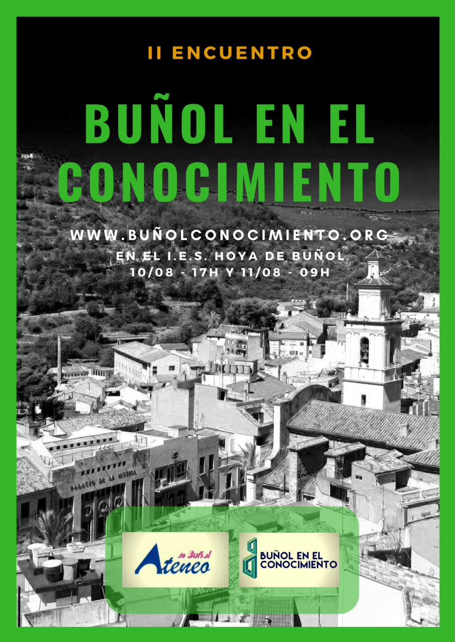 Cartel de las jornadas desarrolladas en Buñol.