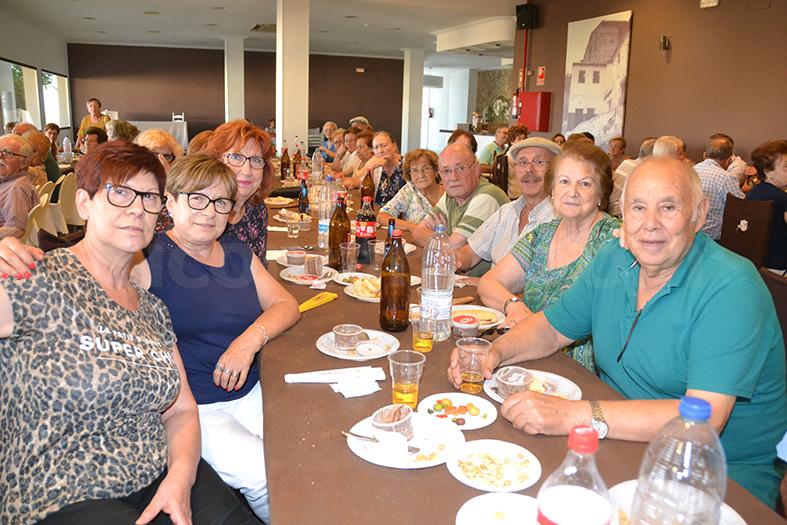 Alguns membres de la Junta Directiva de l'Associació de Jubilats i Pensionistes de Bunyol.