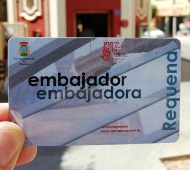 Accedix gratis a les instal·lacions municipals com a ambaixador de Requena.