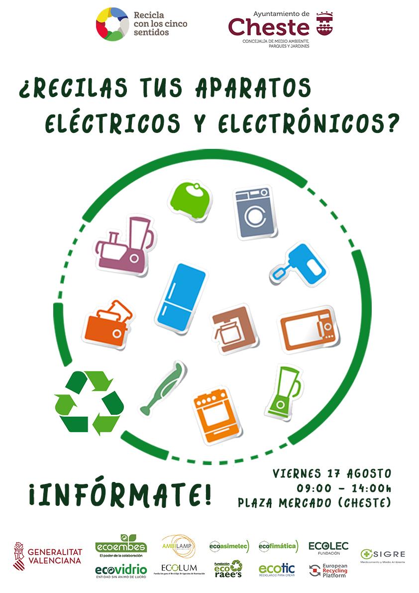 Se instalará en la plaza del Mercado un stand para sensibilizar sobre el reciclado de residuos de aparatos eléctricos y electrónicos.