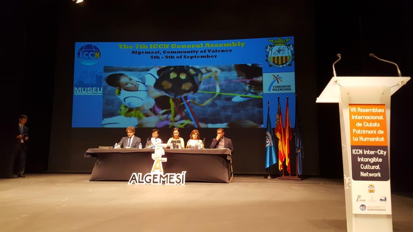 Colomer inaugura l'Assemblea de Ciutats Patrimoni que se celebra a Algemesí.