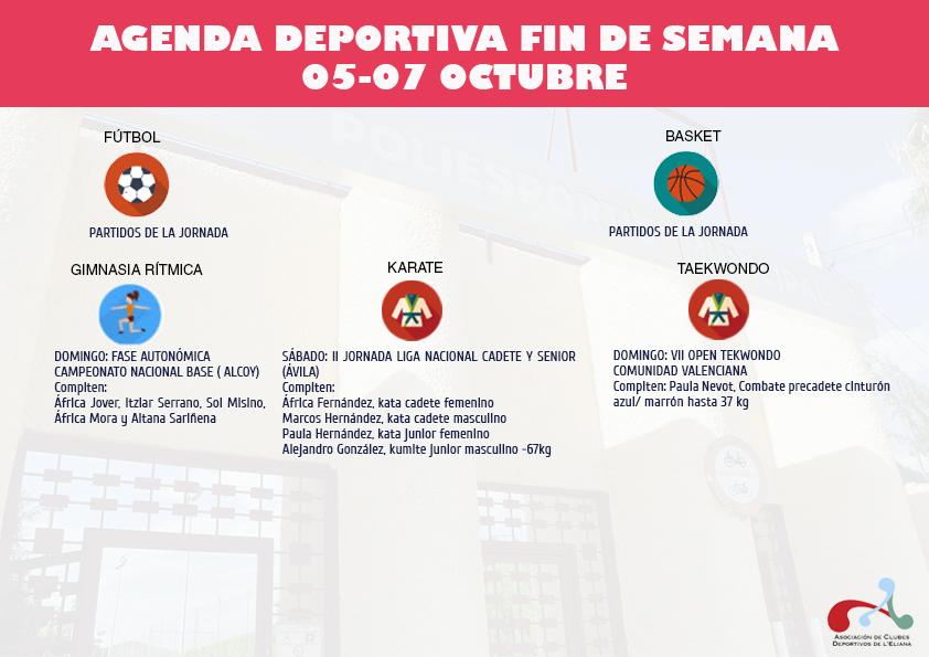 Agenda deportiva L'Eliana.