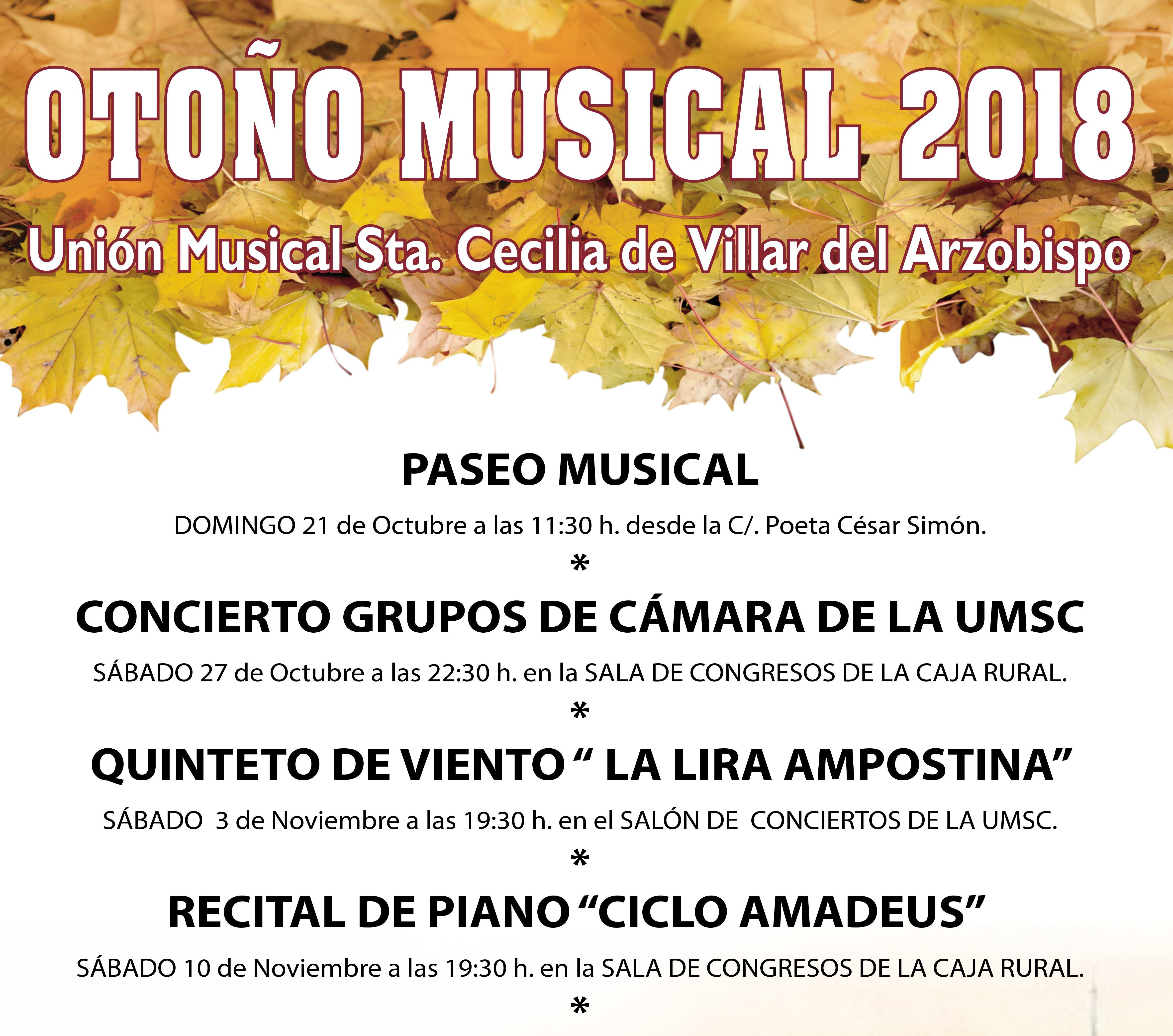 Programa Otoño Musical 2018.