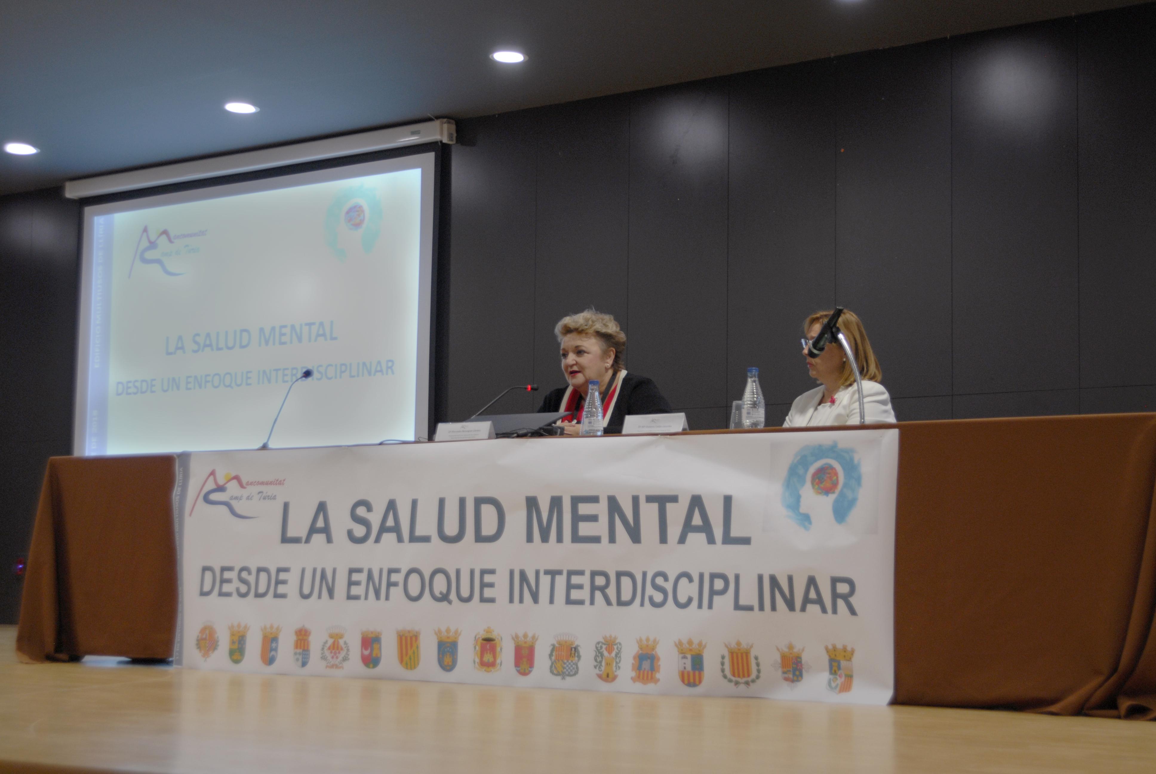 La diputada de Bienestar Social ha inaugurado en Llíria la jornada 'La salud mental desde un enfoque interdisciplinar' junto a la presidenta de la Mancomunidad Camp de Túria.