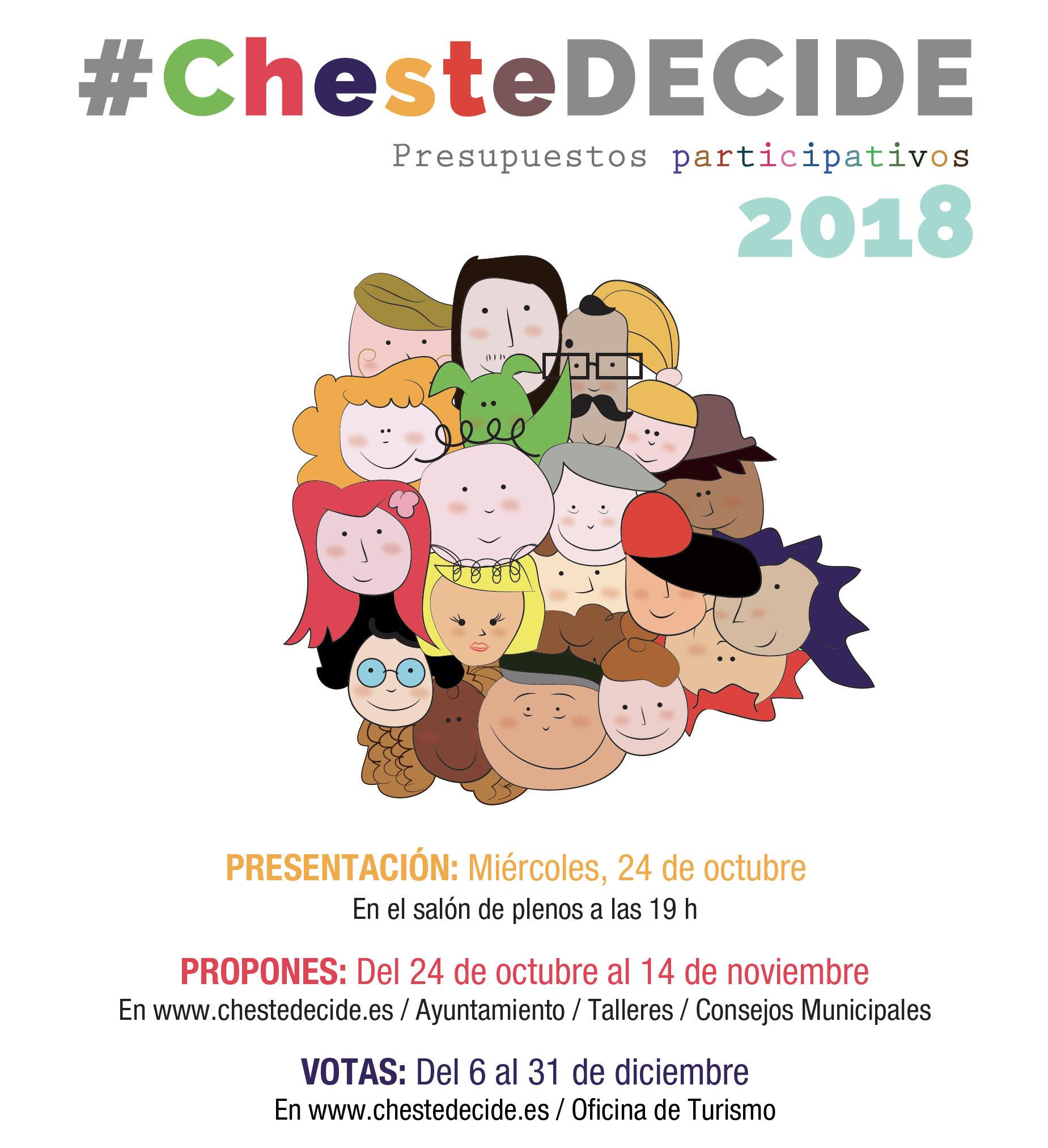 Segunda edición del proyecto de presupuestos participativos #ChesteDecide.