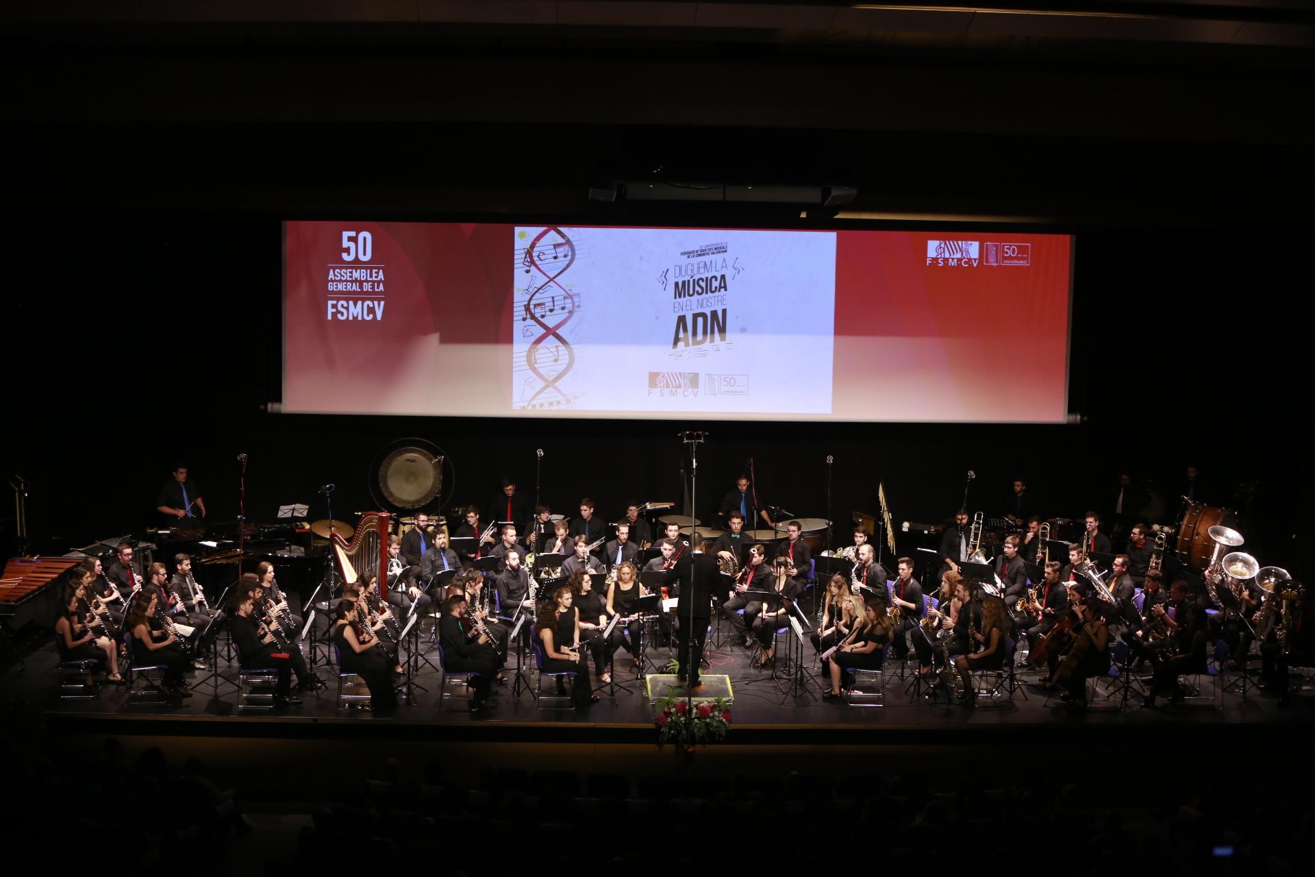 La FSMCV ha reunido a algunos de los principales compositores y directores valencianos del momento en el concierto ofrecido por la Joven Banda Sinfónica.