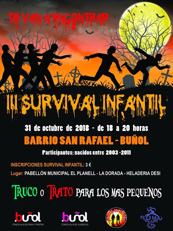 Cartel anunciador del III Survival Infantil.