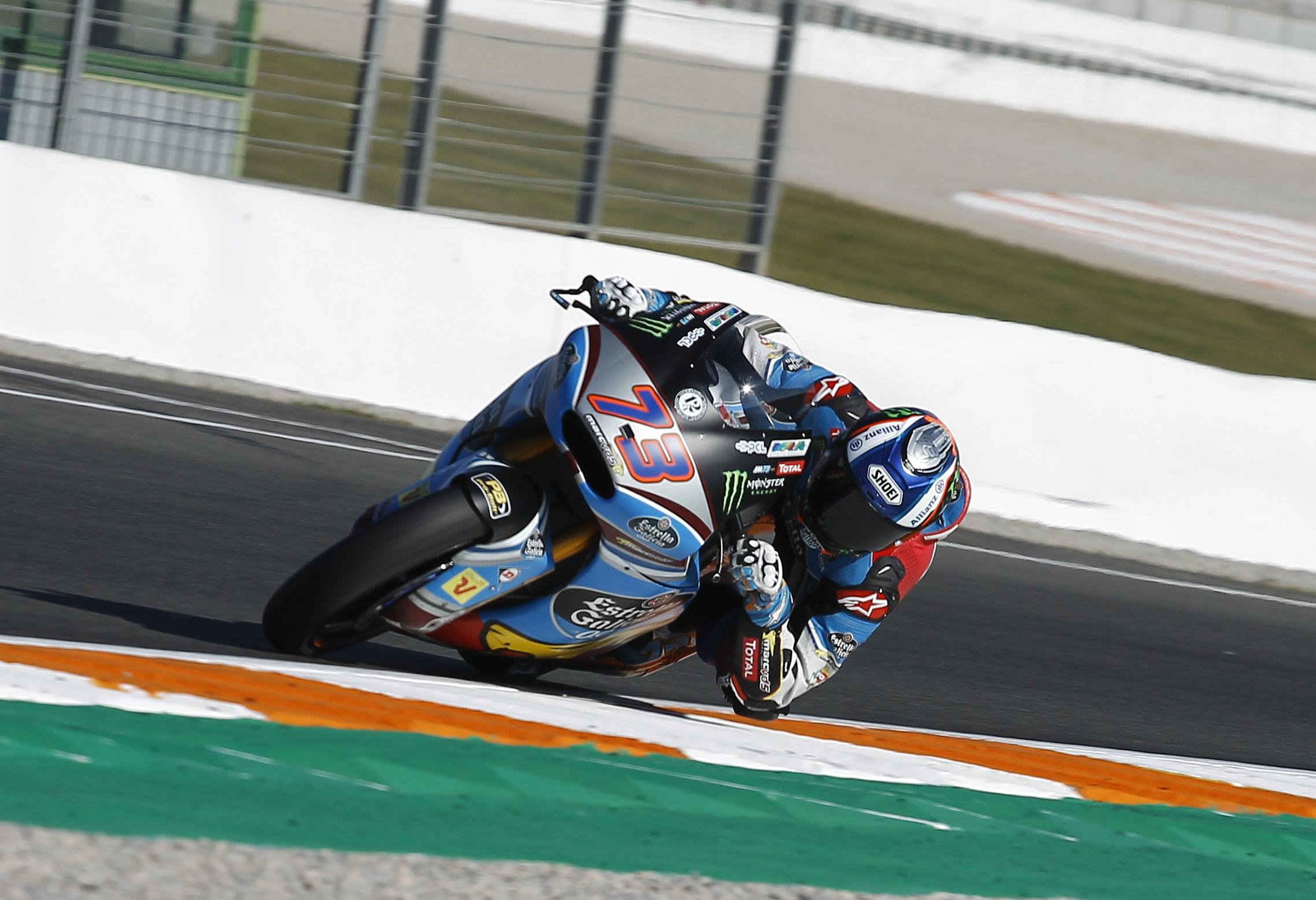 Alex Marquez rodando en el Circuito de Cheste.