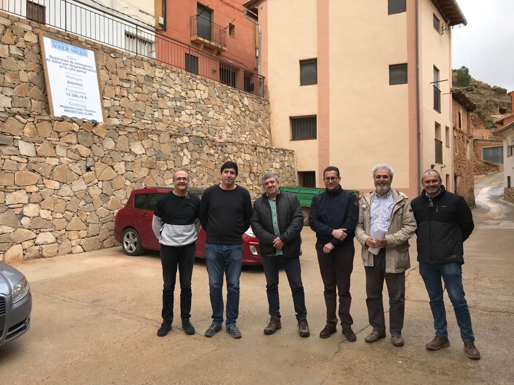 Las obras de reparación y contención del talud de la calle Portal de Ademuz se han realizado con una subvención provincial de 54.397euros.