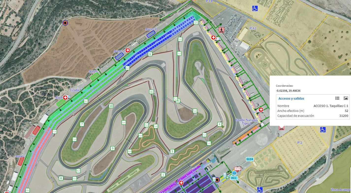 Una imagen aérea del Circuito de Cheste.