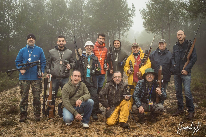 Participantes en la tirada de la asociación de Field Target de Buñol.