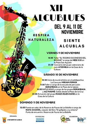 Cartel de la propuesta musical en Alcublas.