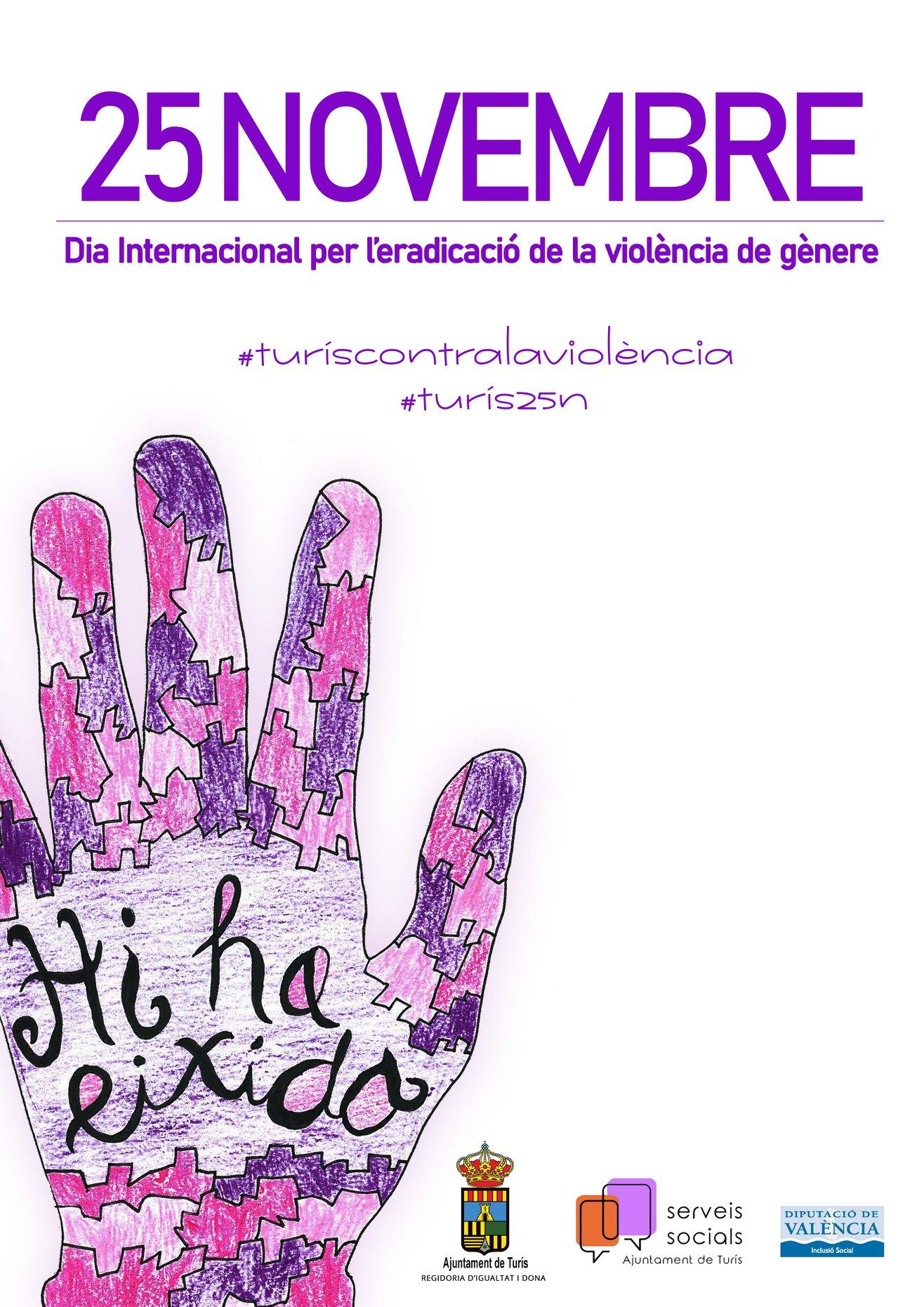 Turís empieza el programa para conmemorar el Día Internacional para la erradicación de la violencia de género.